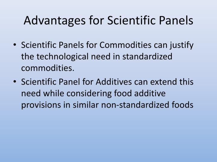 Advantages for