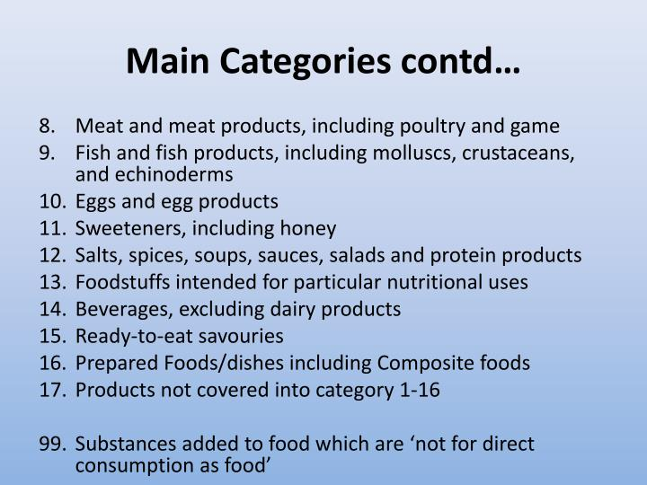 Main Categories