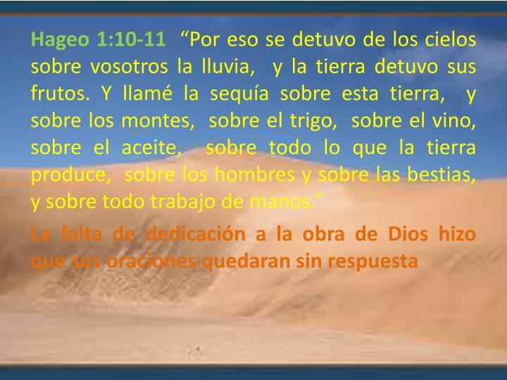 Hageo 1:10-11