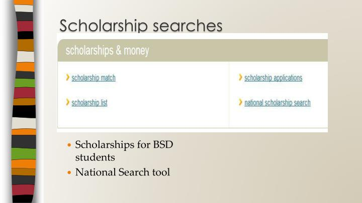 Scholarship searches