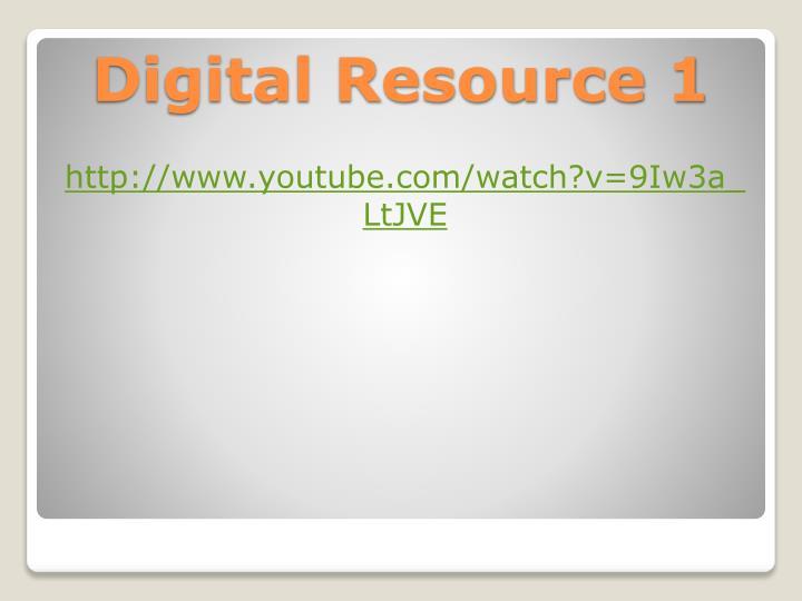 Digital resource 1