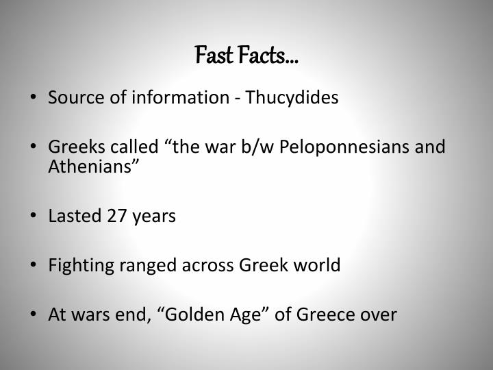 Fast Facts…