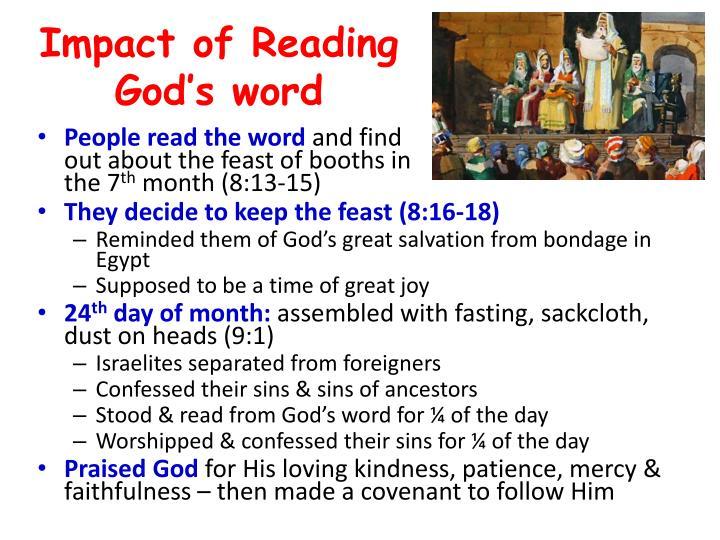 Impact of Reading God's word