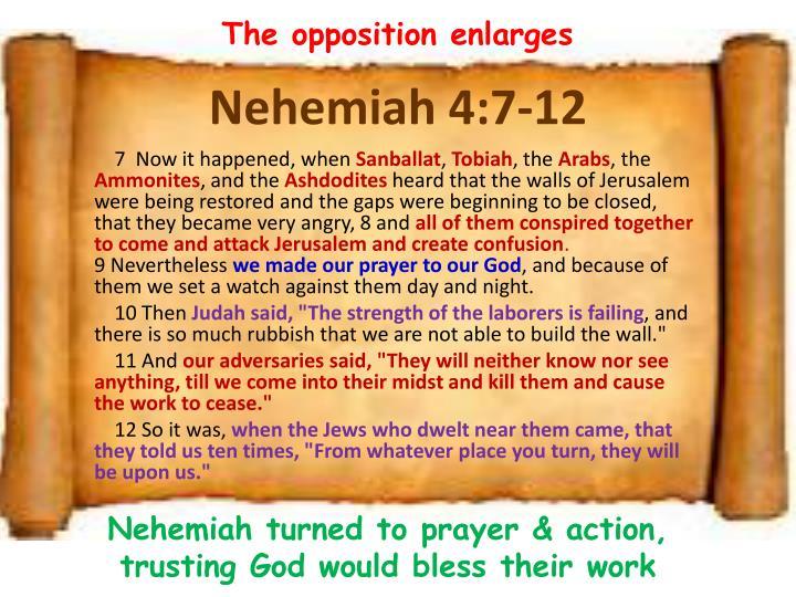 Nehemiah 4 7 12