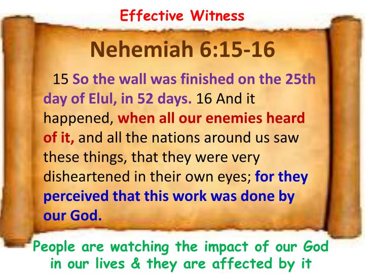 Effective Witness