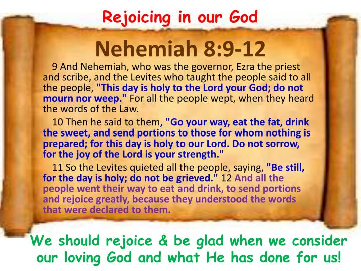 Rejoicing in our God