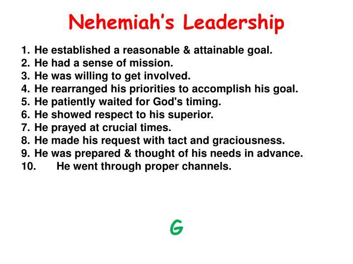 Nehemiah's Leadership
