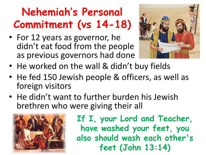 Nehemiah's Personal Commitment (