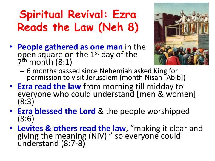 Spiritual Revival: Ezra Reads the Law (