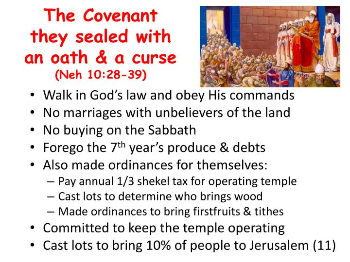 The Covenant they sealed with an oath & a curse