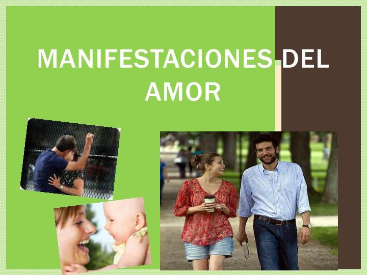 Manifestaciones del amor