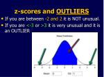 z scores and outliers
