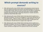 which prompt demands writing to sources