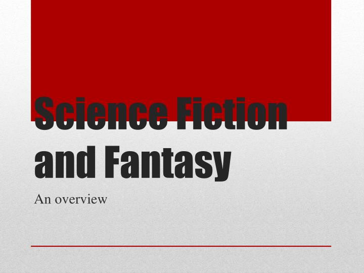 science fiction and fantasy n.