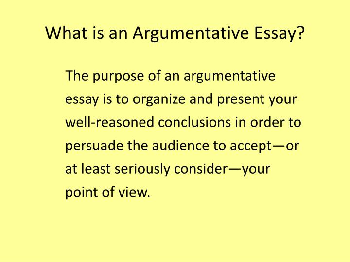 What is an argumentative essay