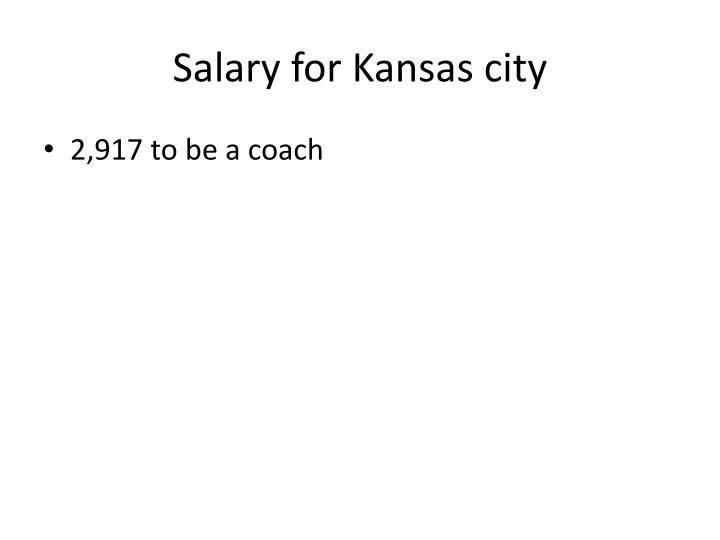 Salary for Kansas city