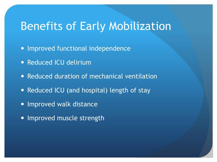 Ppt Early Mobilization Powerpoint Presentation Id 2371961