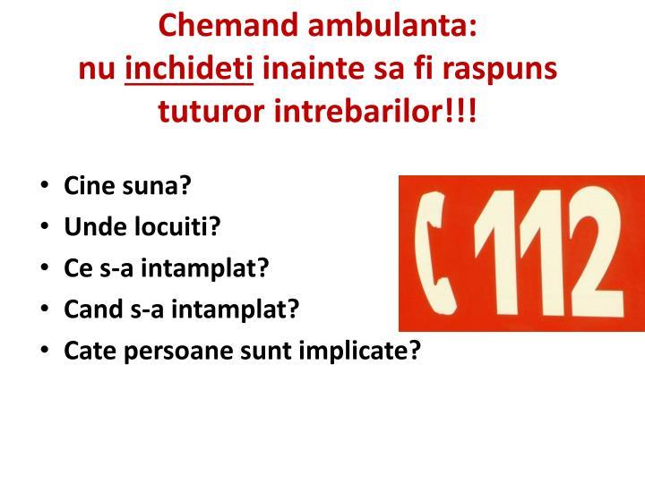 Chemand ambulanta: