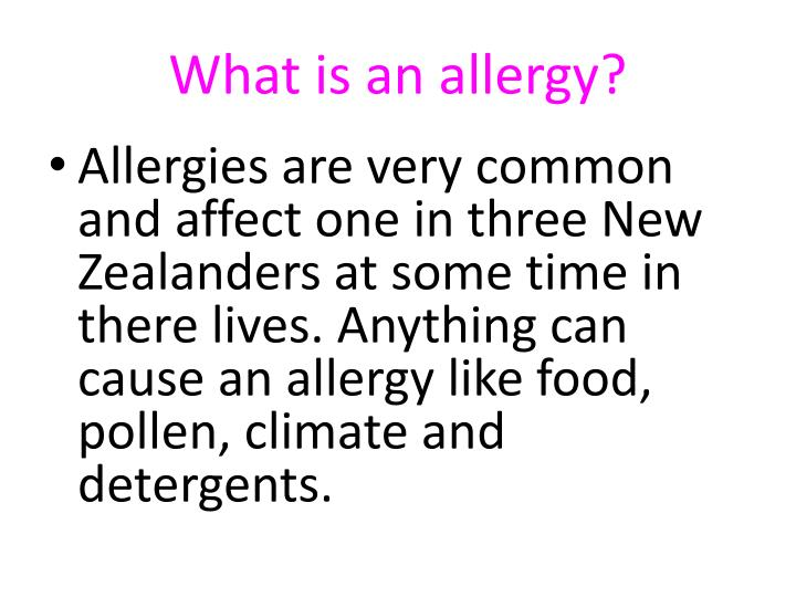 What is an allergy