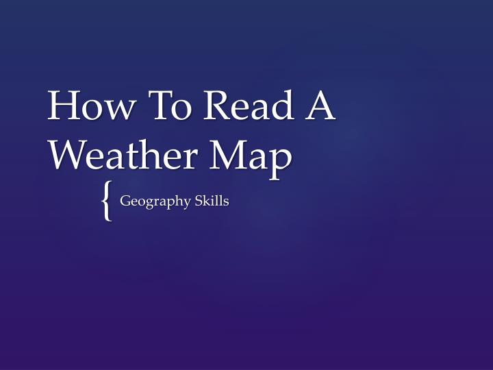 how to read a weather map n.