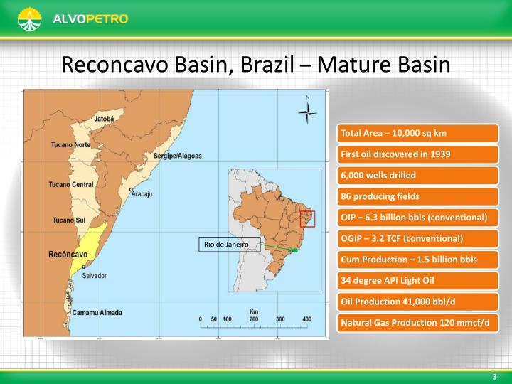 Reconcavo Basin, Brazil