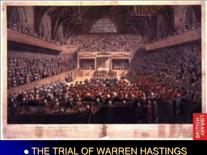 THE TRIAL OF WARREN HASTINGS
