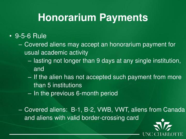 Honorarium Payments