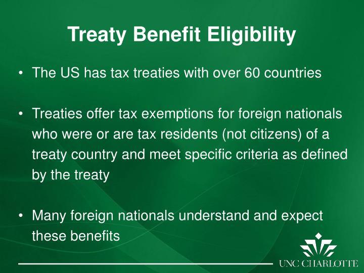 Treaty Benefit Eligibility