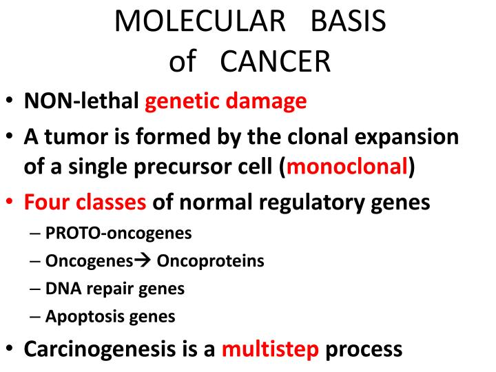 molecular basis of cancer n.