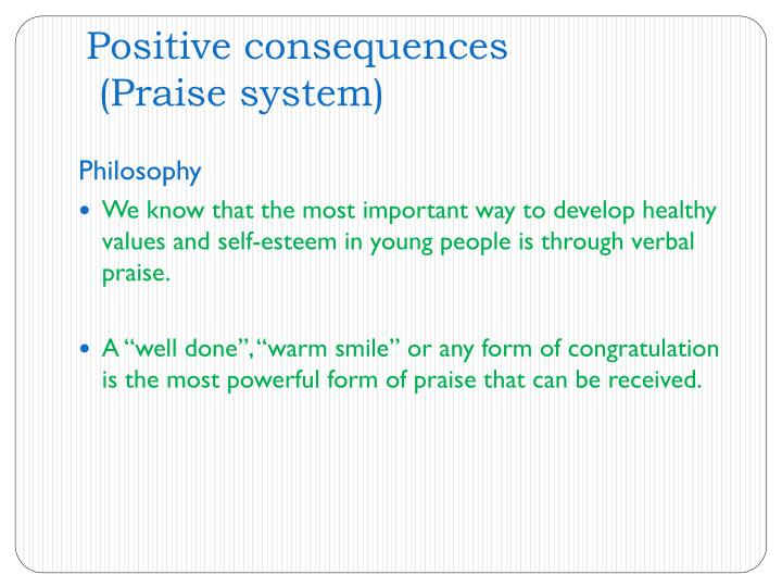 Positive consequences