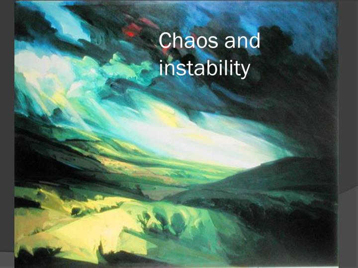 Chaos and instability