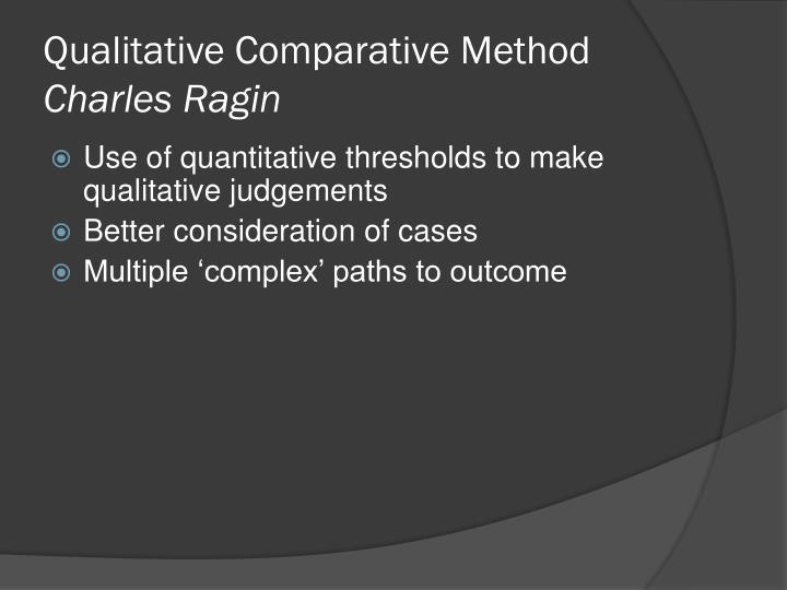 Qualitative Comparative Method