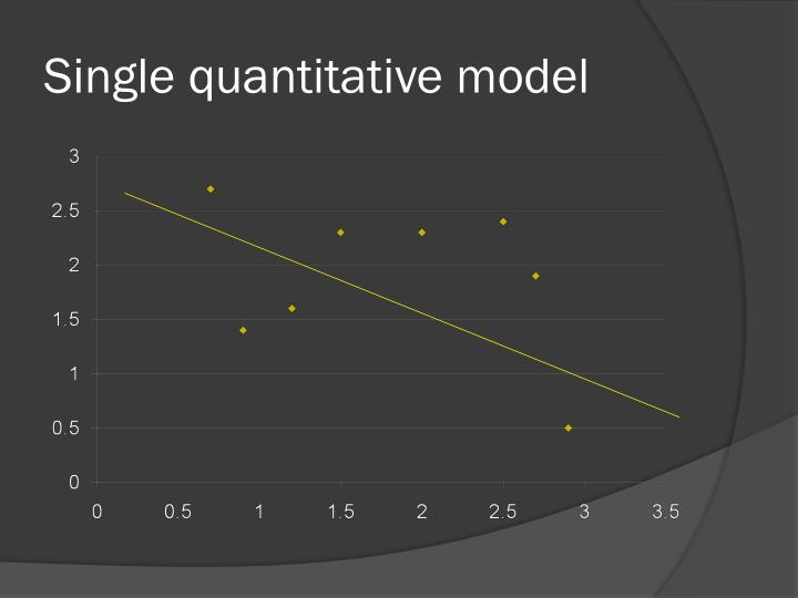 Single quantitative model
