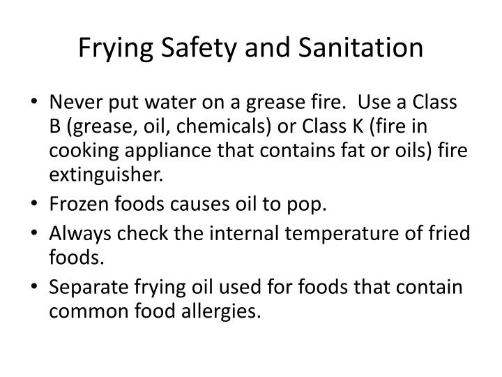 Frying Safety and Sanitation