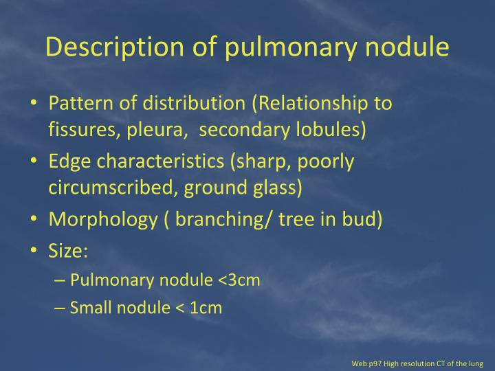 Ppt Lung Nodules Powerpoint Presentation Id2372940