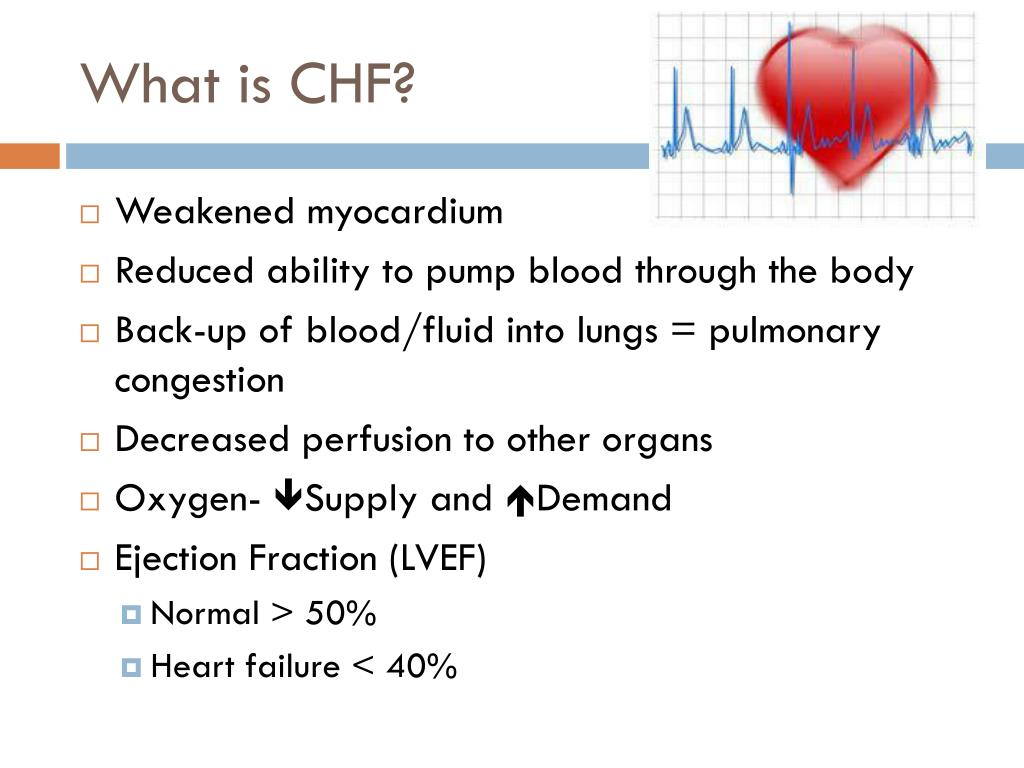 Ppt Congestive Heart Failure