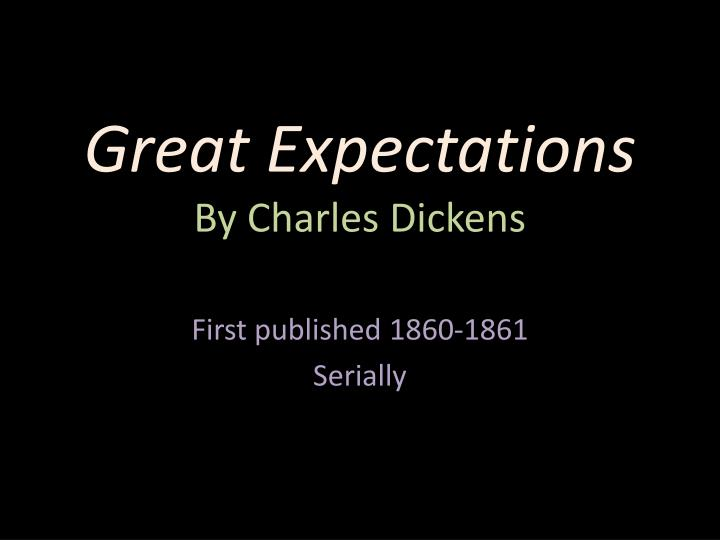 great expectations by charles dickens n.