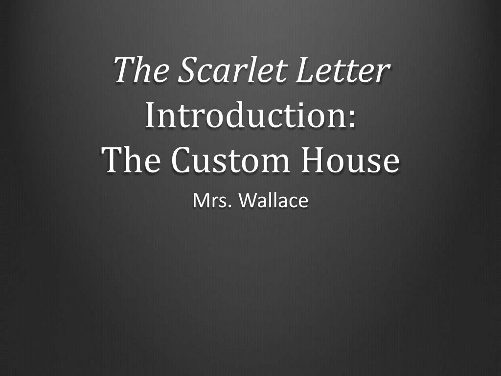 custom house scarlet letter