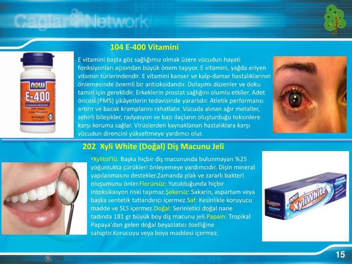 104 E-400 Vitamini