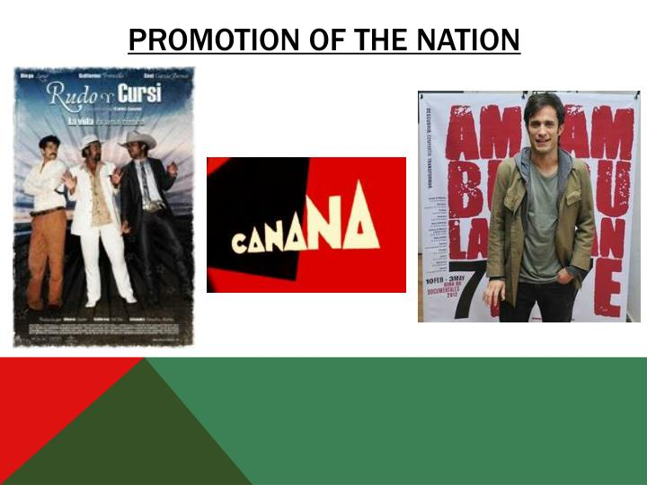 Promotion of the nation