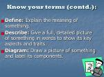 know your terms contd