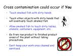cross contamination could occur if you
