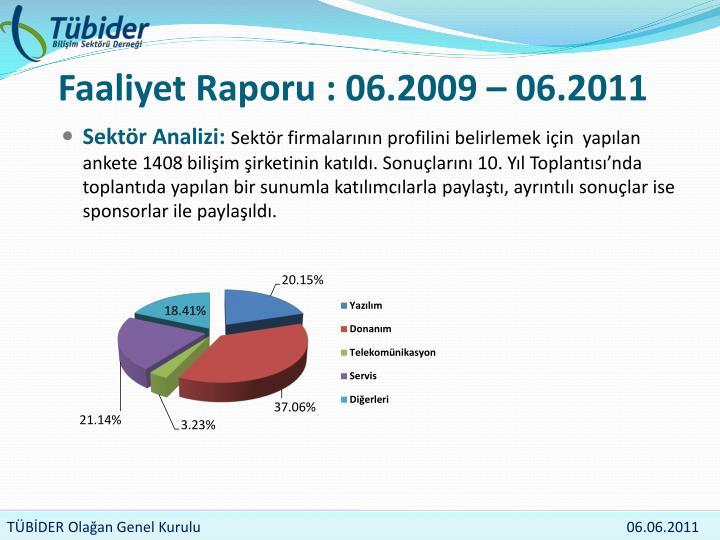 Faaliyet raporu 06 2009 06 2011