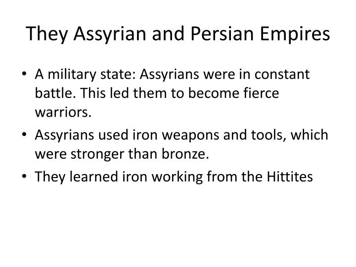 they assyrian and persian empires n.