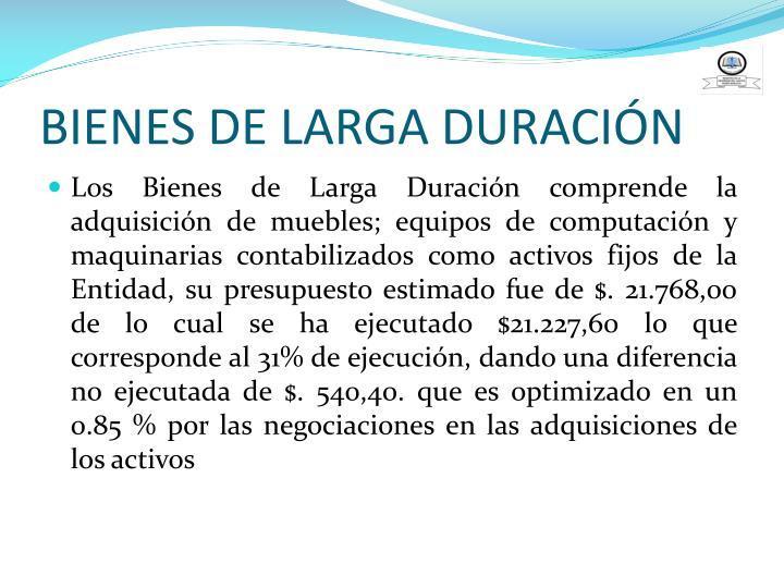 BIENES DE LARGA DURACIÓN