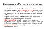 physiological effects of amphetamines
