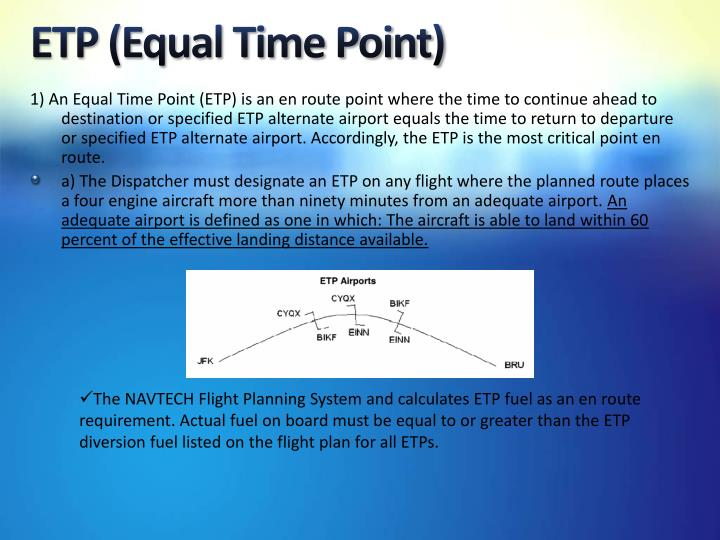 ETP (Equal Time Point)