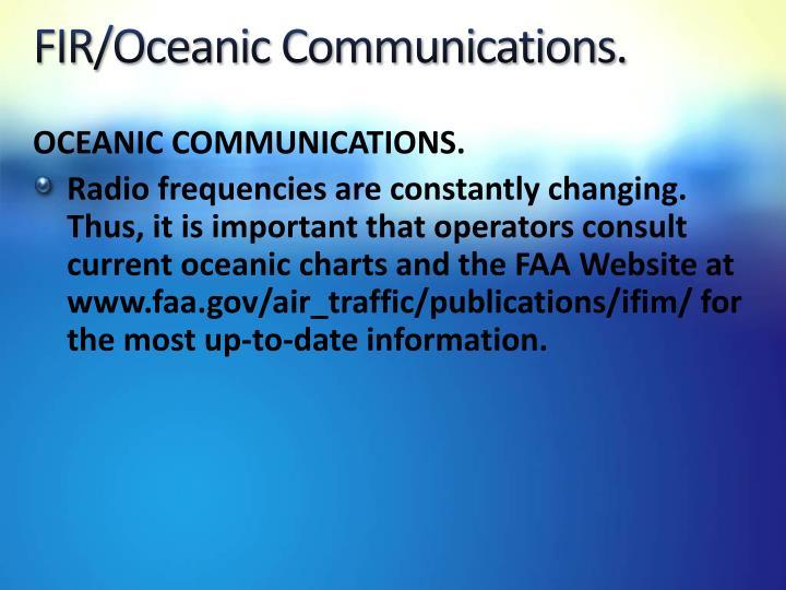 FIR/Oceanic Communications.
