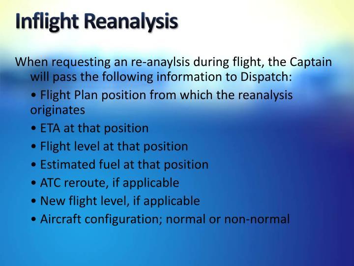 Inflight Reanalysis