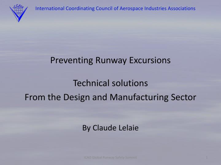 international coordinating council of aerospace industries associations n.